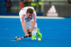 England's Michael Hoare. England v Netherlands  - Unibet EuroHockey Championships, Lee Valley Hockey & Tennis Centre, London, UK on 23 August 2015. Photo: Simon Parker