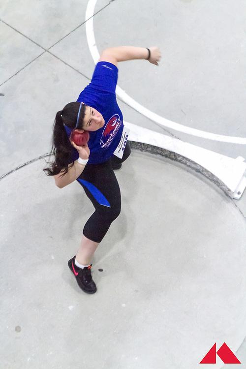 ECAC Indoor Champs, womens shot put, UMass Lowell