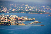 Elevated view of Chania, Crete, Greece
