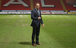 Referee Stephen Martin gives the go ahead for the match which has been postponed twice - Photo mandatory by-line: Robin White/JMP - Tel: Mobile: 07966 386802 14/01/2014 - SPORT - FOOTBALL - Charlton - The Valley - Charlton Athletic v Oxford United - FA Cup - Third Round