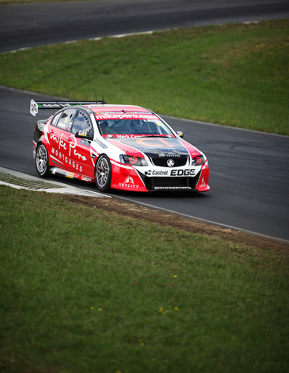 Greg Murphy, driving a Holden on his way to victory in race 2 of the V8 Super Tourers, Hampton Downs, New Zealand, Sunday, February 19, 2012. Credit:SNPA / John Cowpland