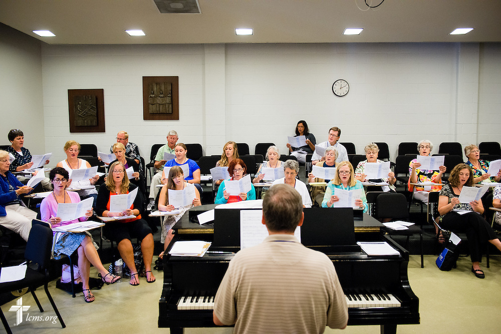 Dr. Kenneth Kosche leads a workshop at the 2014 Institute on Liturgy, Preaching and Church Music on Tuesday, July 29, 2014, at Concordia University, Nebraska, in Seward, Neb. LCMS Communications/Erik M. Lunsford