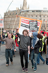 Demonstration march starting at Devonshire Green Sheffield before moving through Sheffield City Centre to Barkers Pool outside Sheffield city Hall where the Liberal Democrats are holding their Party conference Conference Sheffield Saturday.12 March 2011.Images © Paul David Drabble