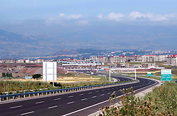 Photo taken on Nov. 16, 2013 shows an overlook of the expressway from Ethiopia's Addis Ababa to Adama which is constructed by China Communication Construction Company. EXPA Pictures © 2015, PhotoCredit: EXPA/ Photoshot/ Xinhua<br /> <br /> *****ATTENTION - for AUT, SLO, CRO, SRB, BIH, MAZ only*****