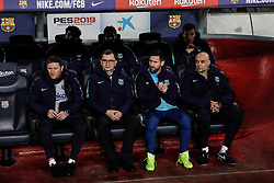 February 6, 2019 - Barcelona, BARCELONA, Spain - 10 Leo Messi of FC Barcelona on the bench during the semi-final first leg of Spanish King Cup / Copa del Rey football match between FC Barcelona and Real Madrid on 04 of February of 2019 at Camp Nou stadium in Barcelona, Spain (Credit Image: © AFP7 via ZUMA Wire)