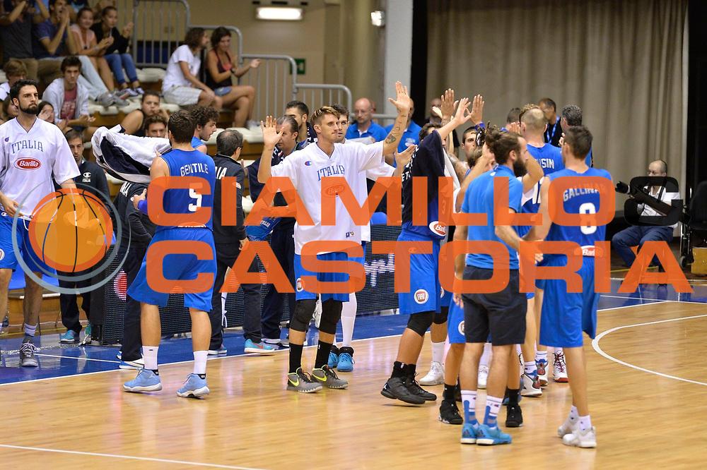 DESCRIZIONE : Trieste Nazionale Italia Uomini Torneo Internazionale Citt&agrave; di Trieste 2015 Italia Georgia Italy Georgia<br /> GIOCATORE : Achille Polonara<br /> CATEGORIA : Esultanza<br /> SQUADRA : Italia Italy<br /> EVENTO : Torneo Internazionale Citt&agrave; di Trieste 2015<br /> GARA : Italia Georgia Italy Georgia<br /> DATA : 28/08/2015<br /> SPORT : Pallacanestro<br /> AUTORE : Agenzia Ciamillo-Castoria/M.Ozbot<br /> Galleria : FIP Nazionali 2015<br /> Fotonotizia : Trieste Nazionale Italia Uomini Torneo Internazionale Citt&agrave; di Trieste 2015 Italia Georgia Italy Georgia