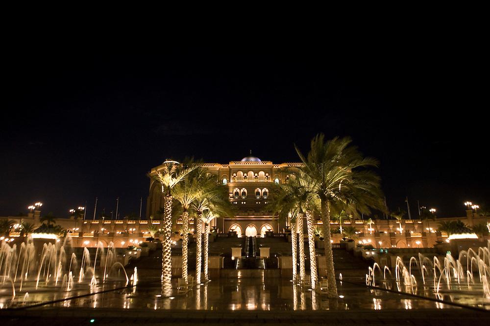 Abu Dhabi, United Arab Emirates (UAE)..February 3rd 2009..The famous Emirates Palace Hotel