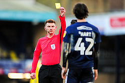Sam Hart of Southend United receives a yellow card - Mandatory by-line: Ryan Hiscott/JMP - 01/01/2009 - FOOTBALL - Roots Hall - Southend-on-Sea, England - Southend United v Bristol Rovers - Sky Bet League One