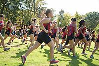 St Paul's School varsity and junior varsity cross country meet with Andover.   ©2017 Karen Bobotas Photographer