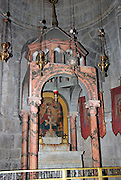 Interior of the church of the Holy Sepulchre, Old city, Jerusalem, Israel