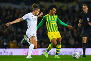 West Bromwich Albion forward Matheus Pereira (12) and Leeds United midfielder Kalvin Phillips (23) during the EFL Sky Bet Championship match between Leeds United and West Bromwich Albion at Elland Road, Leeds, England on 1 October 2019.