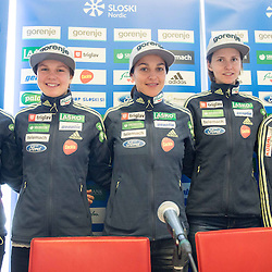 20151201: SLO, Ski Jumping - Press conference of Women Ski jumping team