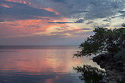 Sunrise in Biscayne Bay National Park, Florida.