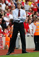 Photo: Steve Bond.<br />Arsenal v Derby County. The FA Barclays Premiership. 22/09/2007. Arsene Wenger looks relaxed