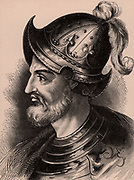 Stephen of Blois (c1097-1154) grandson of William the Conqueror, King of England from 1135 after the death of his uncle, Henry I. His claim to the throne was disputed by Henry's daughter Matilda and the country was precipitated into civil war. Wood engraving c1900.