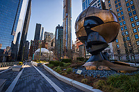 """The Sphere"" Sculpture, Liberty Park"