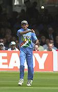 .29/06/2002.Sport - Cricket - .NatWest triangler Series England - Sri Lanka - India.England vs india 50 overs.  Lord's ground.England batting - Agit Agarkar...