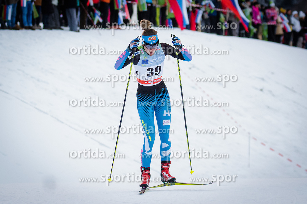 Katri Lylynpera (FIN) during Ladies 1.2 km Free Sprint Qualification race at FIS Cross<br /> Country World Cup Planica 2016, on January 16, 2016 at Planica,Slovenia. Photo by Ziga Zupan / Sportida