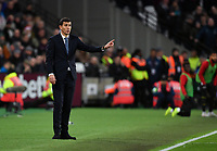 Football - 2018 / 2019 Premier League - West Ham United vs. Watford <br /> <br /> Watford manager Javi Garcia shouts instructions to his team from the technical area, at The London Stadium.<br /> <br /> COLORSPORT/ASHLEY WESTERN