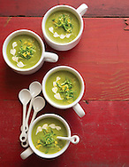 Pea Soup wiht Lemony Creme Fraiche for Derby day appetizer for Capital Style. (Will Shilling/Capital Style)