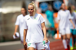 Neza Bizjak of ZNK Olimpija Ljubljana during football match between FC Minsk and ZNK Olimpija Ljubljana in 2nd Qualifying Group of UEFA Women's Champions League 2018/19, on August 7, 2018 in Stadion ZAK, Ljubljana, Slovenia. Photo by Urban Urbanc / Sportida