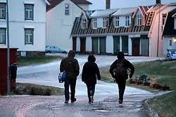 NORWAY ANDENES 7DEC15 - Greenpeace campaigners Christian Bussau, Larissa Baeumer and Erlend Tellnes in the town of Andenes, Vesteralen, Norway.<br /> <br /> jre/Photo by Jiri Rezac / Greenpeace<br /> <br /> © Jiri Rezac 2015