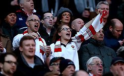 England fans sing the national anthem - Mandatory by-line: Robbie Stephenson/JMP - 04/02/2017 - RUGBY - Twickenham - London, England - England v France - RBS Six Nations