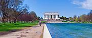 Lincoln Memorial, Reflecting Pond, National Mall, Washington DC, Nations Capital, Cherry Blossom trees,