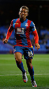Dwight Gayle in action during the Capital One Cup match between Crystal Palace and Charlton Athletic at Selhurst Park, London, England on 23 September 2015. Photo by Michael Hulf.