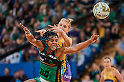Fever  GD: Stacey Francis in action.<br /> PERTH, AUSTRALIA - AUGUST 26: West Coast Fever vs the Sunshine Coast Lightning during the Suncorp Super Netball Grand Final match from Perth Arena - Sunday 26th August 2018 in Perth, Australia. (Photo by Daniel Carson/dcimages.org/Netball WA)