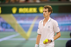 LONDON, ENGLAND - Monday, June 29, 2009: Andy Murray (GBR) watches as he uses a Hawk-Eye challenge during the Gentlemen's Singles 4th Round match on day seven of the Wimbledon Lawn Tennis Championships at the All England Lawn Tennis and Croquet Club. (Pic by David Rawcliffe/Propaganda)