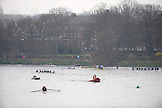 Chiswick. London.  General views of crews preparing  to compete  in the 2011 Schools Head of the River Race, Mortlake to Putney Championship Course. taken from Chiswick Bridge.  Thursday  17/03/2011 [Mandatory Credit, Peter Spurrier/Intersport-images]
