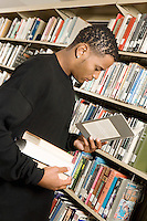 Young Man at the Library