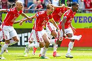 28-05-2017: Voetbal: FC Utrecht v AZ: Utrecht<br /> <br /> (L-R) Utrecht wint van AZ en schreeuwt het uit na afloop van het Eredivisie duel tussen FC Utrecht en AZ op 28 mei 2017 in stadion Galgenwaard tijdens de finale play-offs <br /> <br /> Finale Play-offs, Eredivisie - Seizoen 2016 / 2017<br /> <br /> Foto: Gertjan Kooij