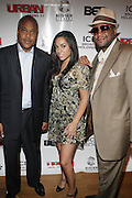 l to r: Bernard Bronner, Sharon Carpenter and Munson Steed at The Urban Network Magazine and Alistair Entertainment V.I.P Reception honoring Stephen Hill & Charles Warfield & theCelebration of Urban Network's 21st Anniversary held at the Canal Room on May 13, 2009 in New York City .