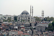 Istanbul, Turky as seen from the Bosphorus. A mosque can be seen in the centre