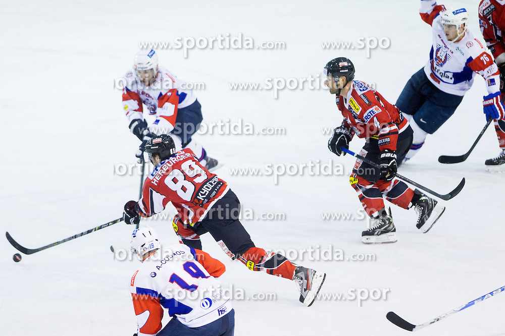 Raphael Herburger of Austria during Friendly Ice-hockey match between National teams of Slovenia and Austria on April 19, 2013 in Ice Arena Tabor, Maribor, Slovenia. (Photo By Vid Ponikvar / Sportida)