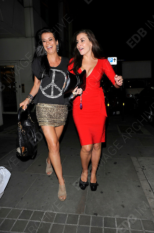 08.JUNE.2011. LONDON<br /> <br /> IMOGEN THOMAS STRUTS HER STUFF AS SHE LEAVES THE NOBU RESTAURANT IN BERKELEY STREET BEFORE HEADING TO THE AQUA BAR IN WESTMINSTER WHERE A PASSER BY SHOUTED 'SLAG' AT HER AS SHE LAPPED UP THE MEDIA ATTENTION.<br /> <br /> BYLINE: EDBIMAGEARCHIVE.COM<br /> <br /> *THIS IMAGE IS STRICTLY FOR UK NEWSPAPERS AND MAGAZINES ONLY*<br /> *FOR WORLD WIDE SALES AND WEB USE PLEASE CONTACT EDBIMAGEARCHIVE - 0208 954 5968*