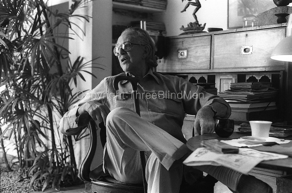 Portrait of Mr. Geoffrey Bawa. Photographed at his home in Colombo.