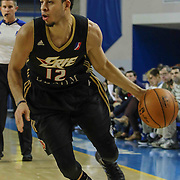 Erie BayHawks Guard Seth Curry (12) drives the baseline in the second half of a NBA D-league regular season basketball game between the Delaware 87ers and the Erie BayHawk (Orlando magic) Friday, Jan. 02, 2015 at The Bob Carpenter Sports Convocation Center in Newark, DEL