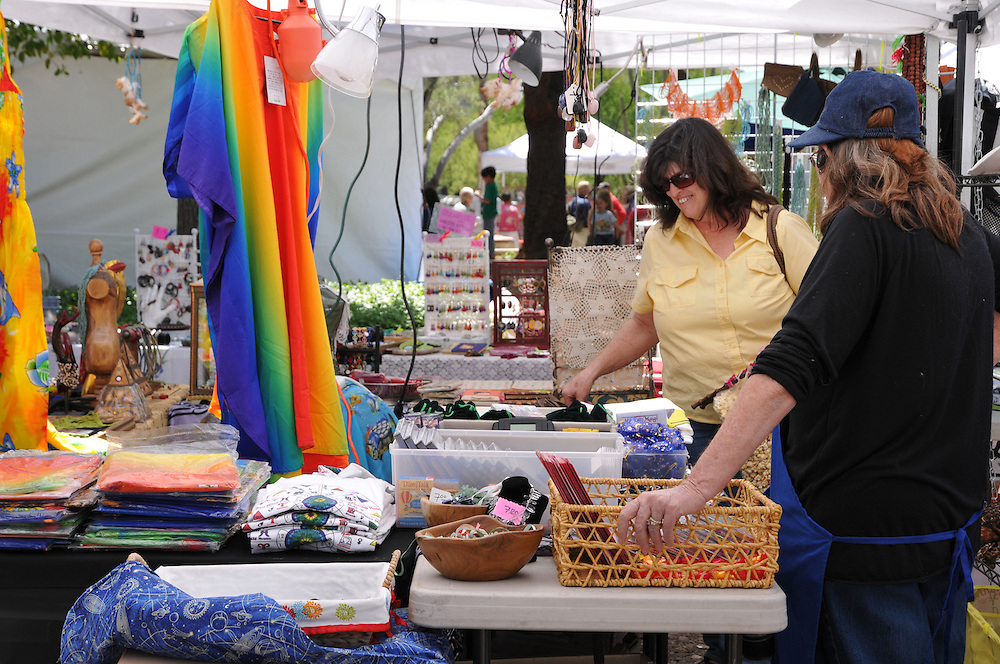 Crafts booth at 2011 Tucson Folk Festival. Event photography by Martha Retallick.