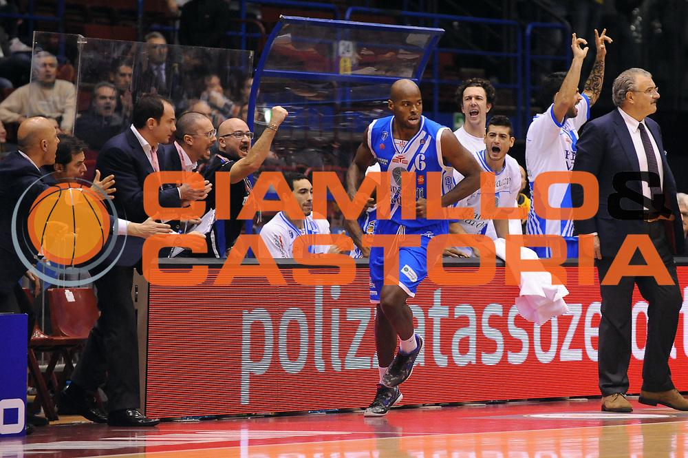 DESCRIZIONE : Milano Coppa Italia Final Eight 2014 Finale Montepaschi Siena Banco di Sardegna Sassari<br /> GIOCATORE : Caleb Green<br /> CATEGORIA : Esultanza<br /> SQUADRA : Banco di Sardegna Sassari<br /> EVENTO : Beko Coppa Italia Final Eight 2014<br /> GARA : Montepaschi Siena Banco di Sardegna Sassari<br /> DATA : 09/02/2014<br /> SPORT : Pallacanestro<br /> AUTORE : Agenzia Ciamillo-Castoria/M.Marchi<br /> Galleria : Lega Basket Final Eight Coppa Italia 2014<br /> Fotonotizia : Milano Coppa Italia Final Eight 2014 Finale Montepaschi Siena Banco di Sardegna Sassari<br /> Predefinita :