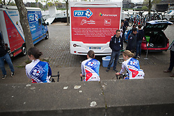 FDJ Nouvelle Aquitaine Futuroscope riders prepare for the Amstel Gold Race Ladies Edition - a 121.6 km road race, between  Maastricht and Valkenburg on April 16, 2017, in Limburg, Netherlands.