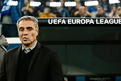 February 21, 2019 - Saint Petersburg, Russia - Fenerbahce SK head coach Ersun Yanal during the UEFA Europa League Round of 32 second leg match between FC Zenit Saint Petersburg and Fenerbahce SK on February 21, 2019 at Saint Petersburg Stadium in Saint Petersburg, Russia. (Credit Image: © Mike Kireev/NurPhoto via ZUMA Press)