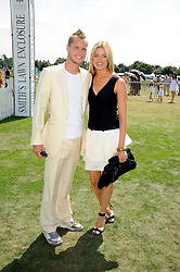 SAM BRANSON and ISABELLA ANSTRUTHER-GOUGH-CALTHORPE at the Cartier International Polo at Guards Polo Club, Windsor Great Park on 27th July 2008.<br /> <br /> NON EXCLUSIVE - WORLD RIGHTS