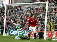Photo: Rich Eaton.<br /> <br /> Nottingham Forest v Yeovil Town. Coca Cola League 1. Play off Semi Final 2nd Leg. 18/05/2007. Forests Scott Dobie #10 celebrates after scoring a second half equalizer to make it 1-1