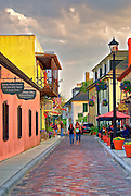Evening on Aviles Street - St. Augustine, Florida
