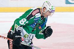 Matt Higgins (HDD Tilia Olimpija, #88) during ice-hockey match between HDD Tilia Olimpija and HK Acroni Jesenice in second game of Final at Slovenian National League, on April 3, 2011 at Hala Tivoli, Ljubljana, Slovenia. (Photo By Matic Klansek Velej / Sportida.com)