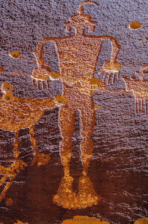 Wolf Man Rock Art Panel, Butler Wash, Comb Ridge, Utah
