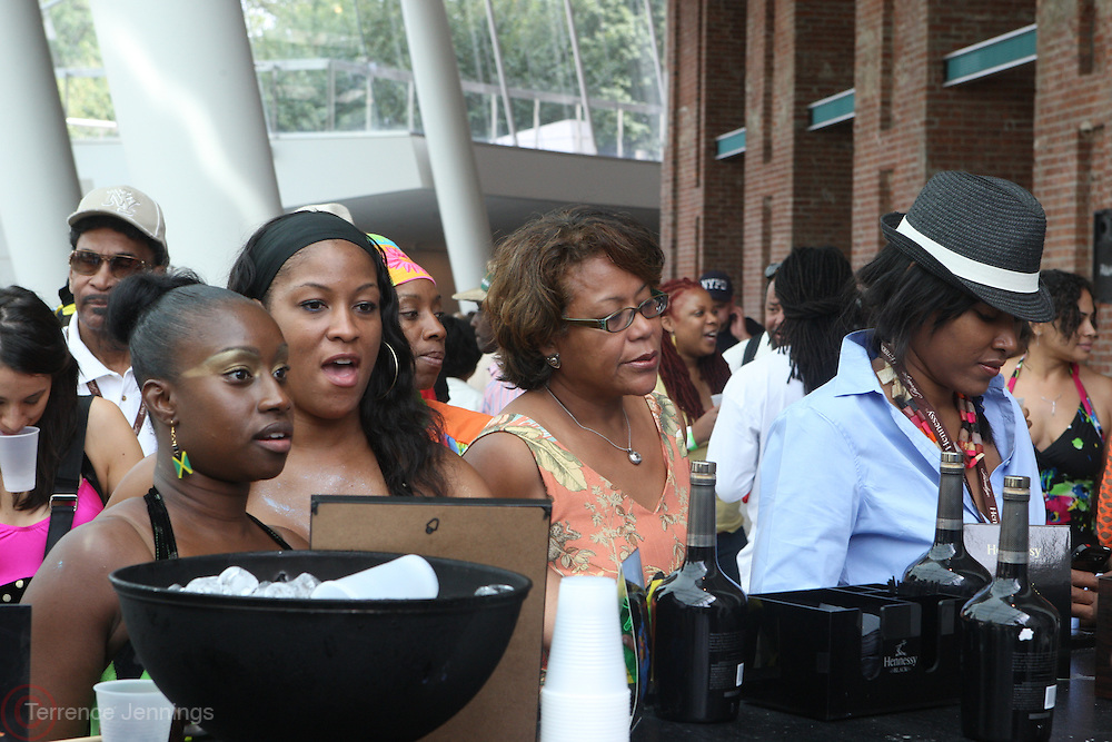 Crowds at the 42nd Annual West Indian Day Carnival Reception co-sponsored by Hennessey, USA and held at The Brooklyn Museum along  on September 7, 2009 in Brooklyn, NY